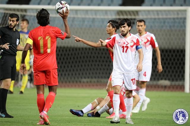 Сборной Таджикистана не хватило четырех голов для выхода в третий раунд отбора ЧМ-2022