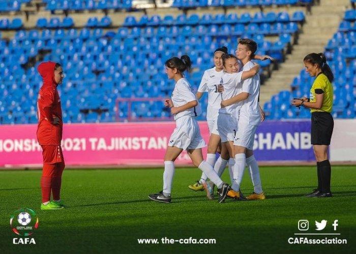 Футболистки Кыргызстана выиграли у Афганистана на чемпионате CAFA-2021 в Душанбе